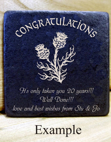 Personalised Message Coaster CONGRATULATIONS