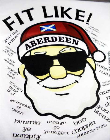 FIT LIKE Aberdeen Santa T-Shirt