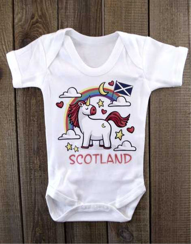 Scotland Unicorn Baby Grow