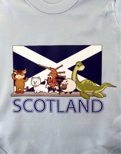 Scotland Icons Baby Grow