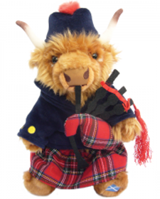 Scottish Highland Cow Piper 12""