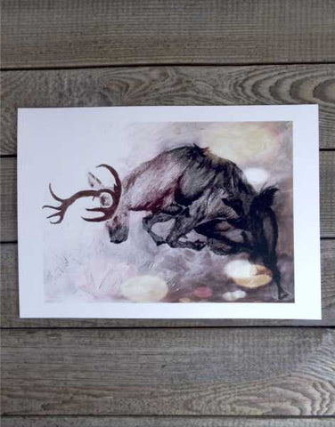 """Highland Stag"" Print by Margaret Burns Miles"