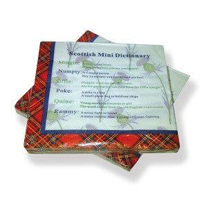 Scottish Mini Dictionary Napkins
