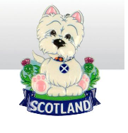 Scottish Westie Spring Mounted Magnet