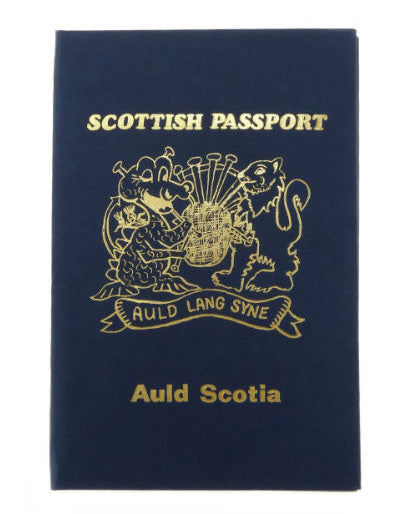 Novelty Scottish Passport