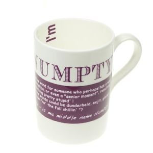 China Mug - Scottish Dialect Word (Numpty)
