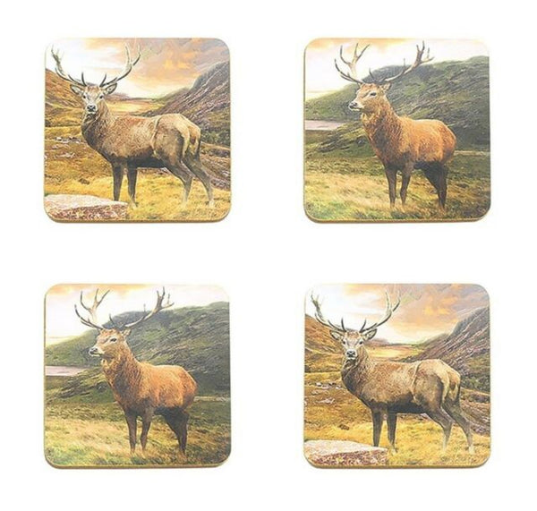 Stags Coasters - Set of 4