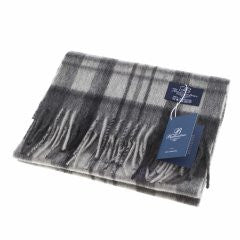 Ballantrae Lambswool Scarf - Monochrome Sky Check