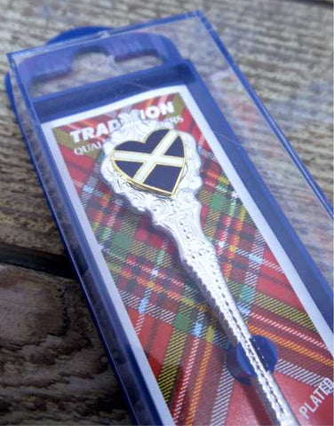 Saltire Heart Scottish Collectable Souvenir Spoon