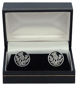 Thistle Pewter Cuff Links