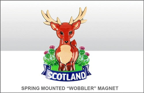 "Spring Mounted ""Wobbler"" Stag Fridge Magnet"