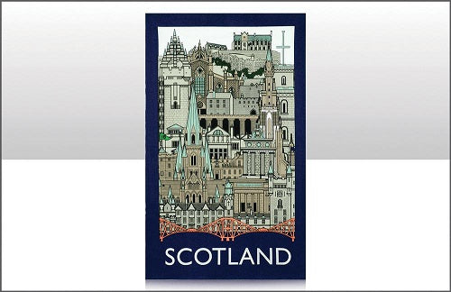 Scottish Landmarks Tea Towel