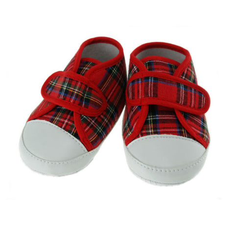 Tartan Shoes with Strap