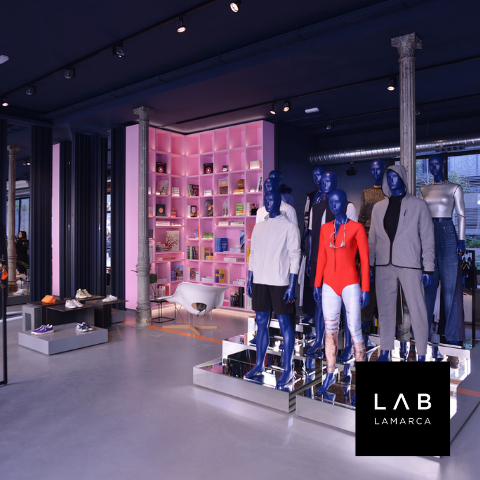 ACE sustainable bags at LABLAMARCA concept store Madrid