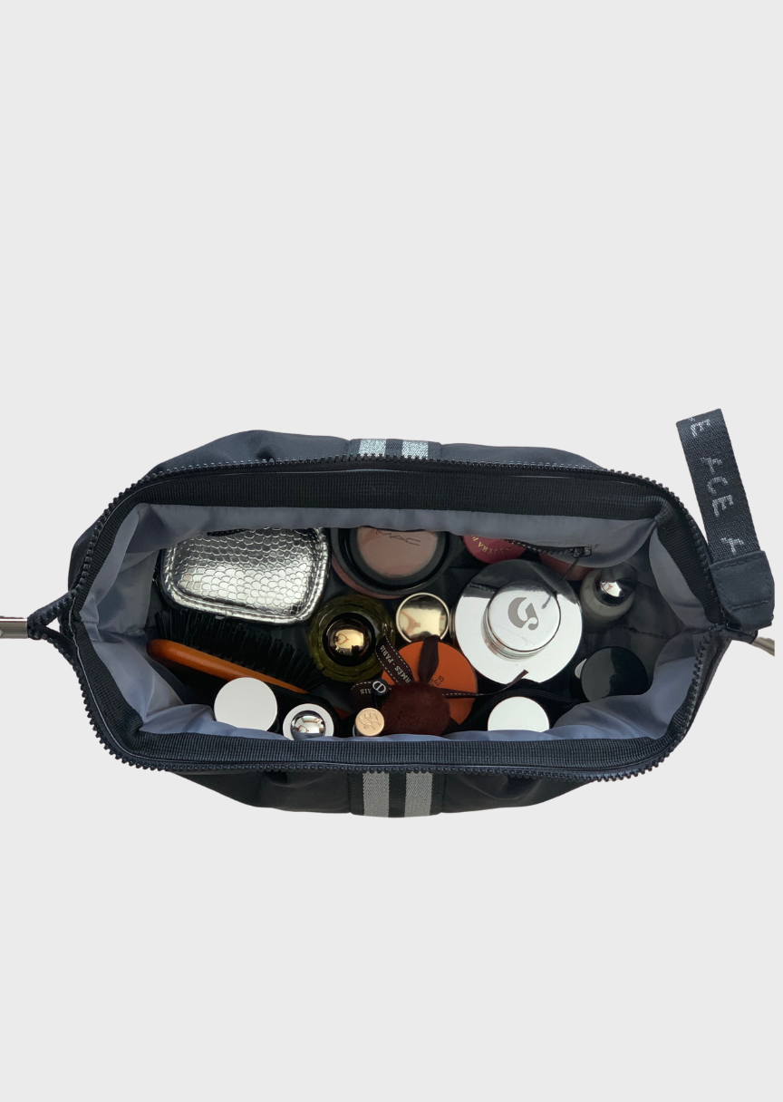 ACE Sustainable Cosmetic Bag Econyl Black bottom view