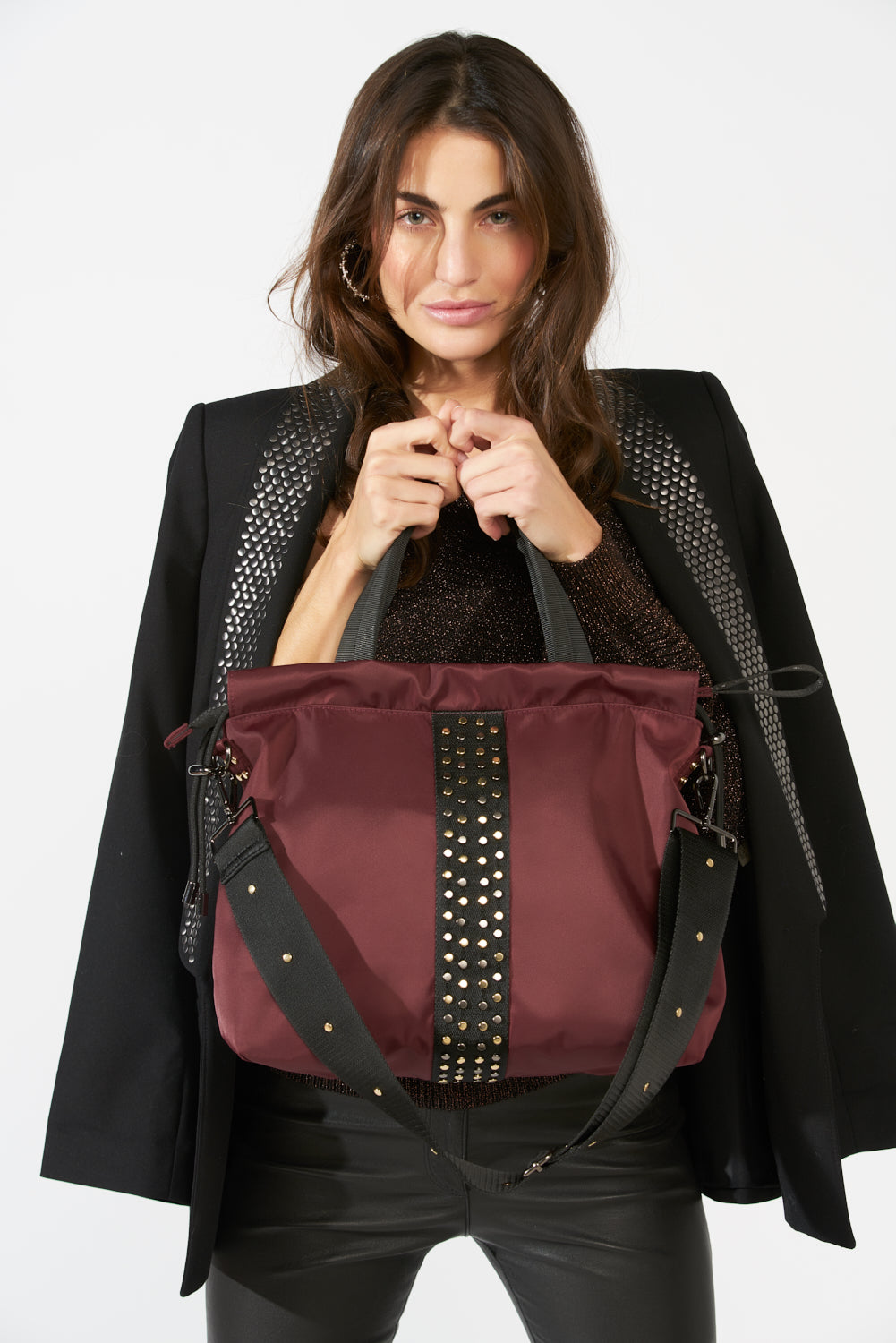 ACE Medium Tote Bag Burgundy model