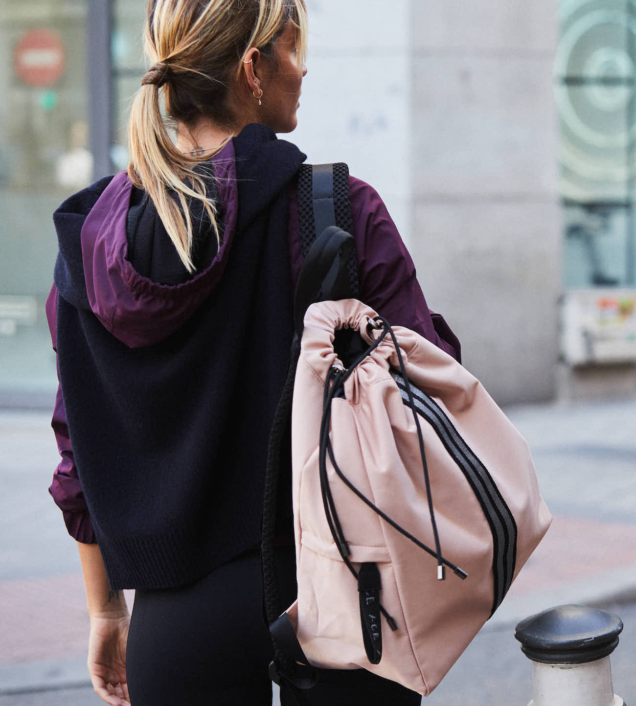Pink Nude sustainable Econyl Backpack