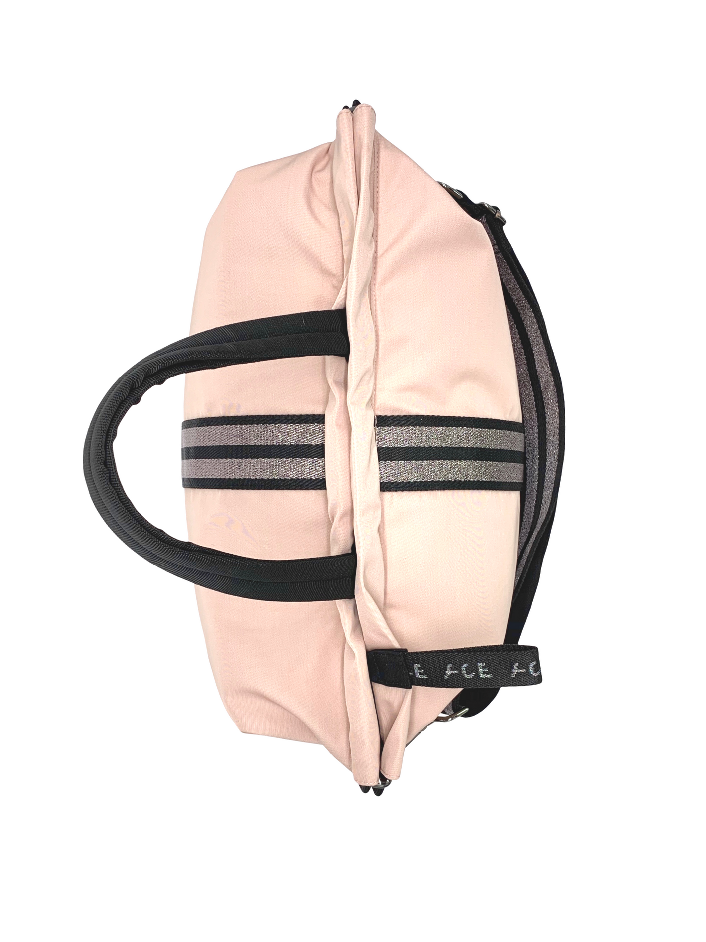 ACE Pink Nude gym bag in sustainable ECONYL