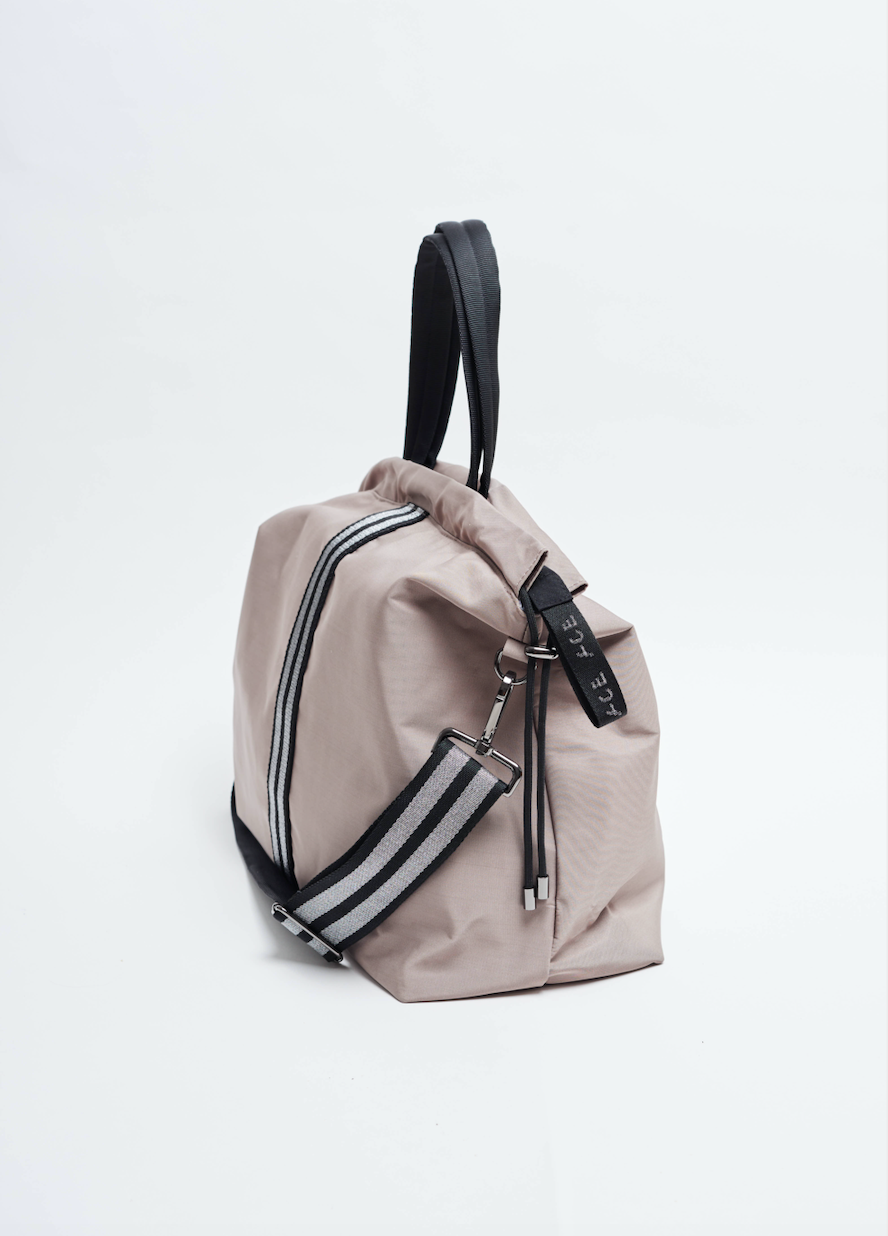 Taupe sustainable Econyl all day bag