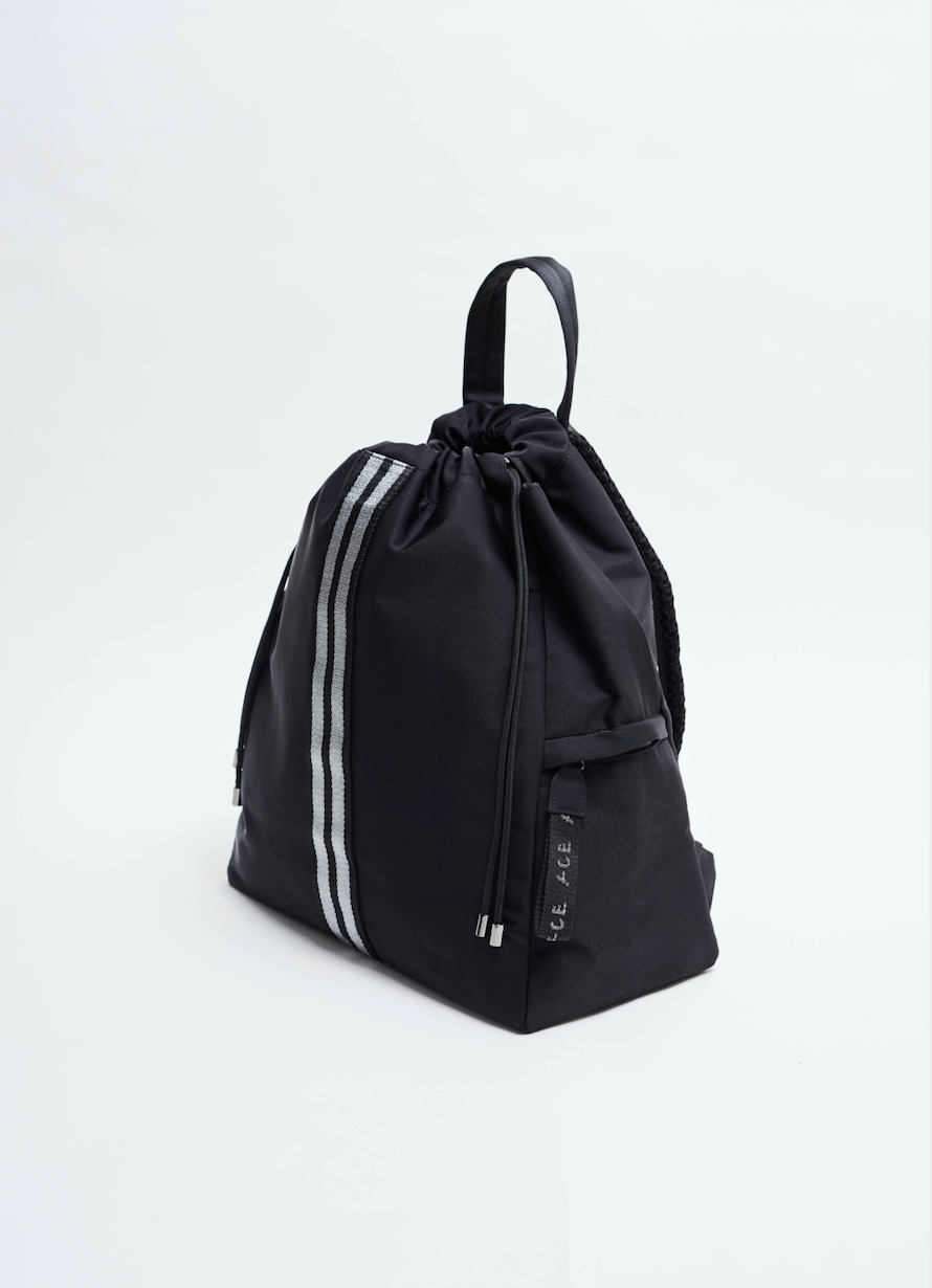Black sustainable Econyl Backpack Negro