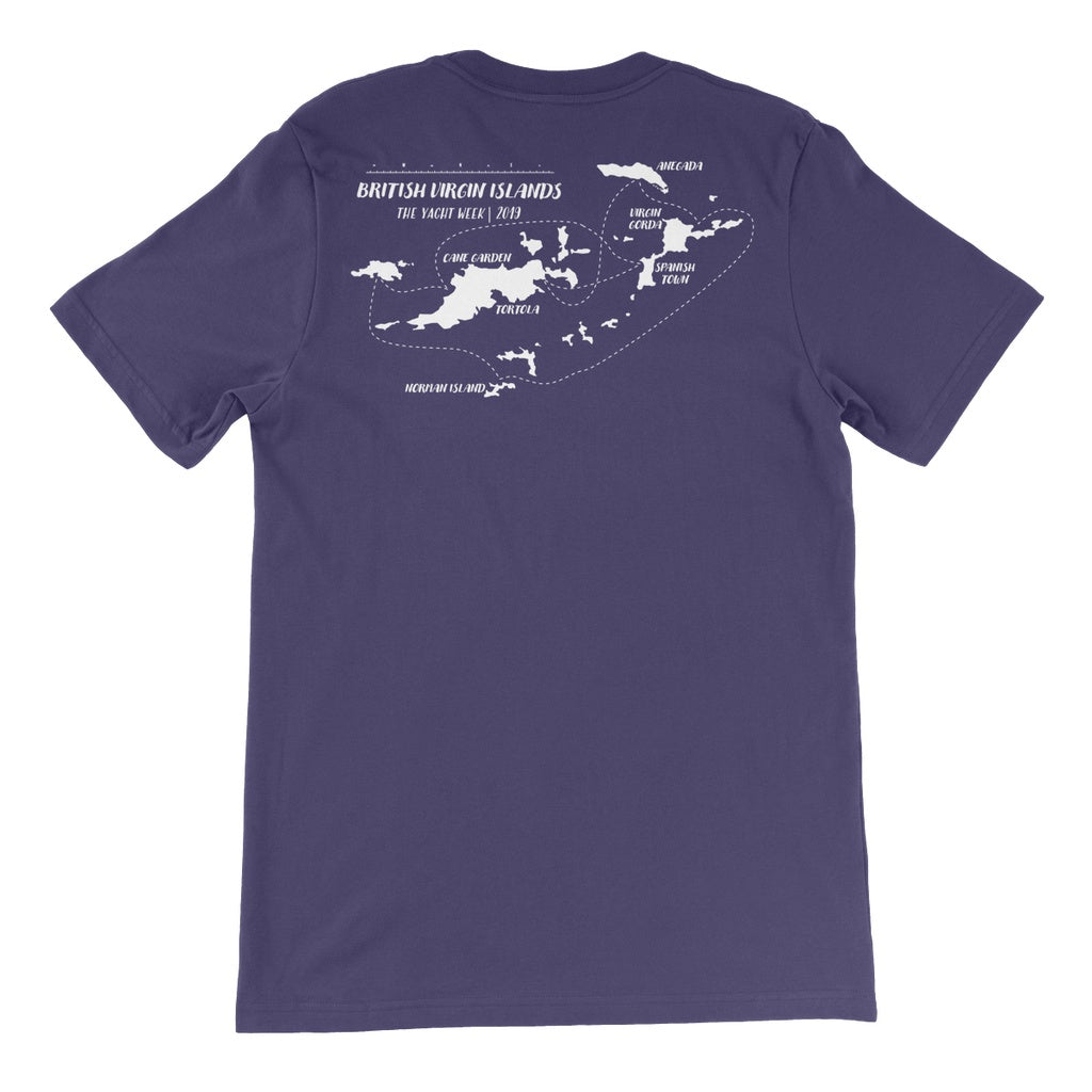 British Virgin Islands Route Unisex Short Sleeve T-shirt