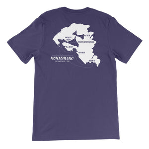 Montenegro Route Unisex Short Sleeve T-shirt