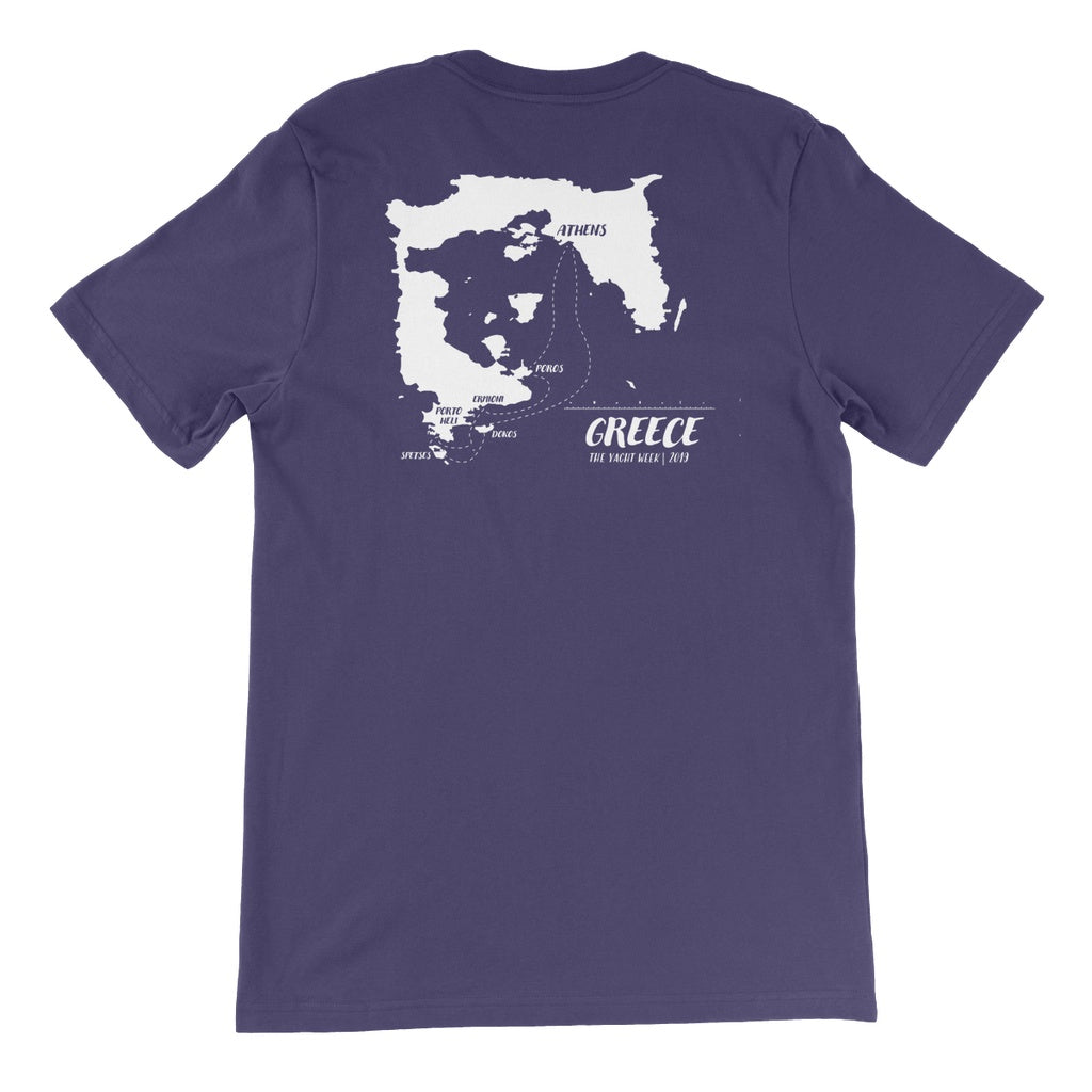 Greece Route Unisex Short Sleeve T-shirt