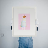 Lampshape Dress pink Johanna von Oldershausen Kunst100