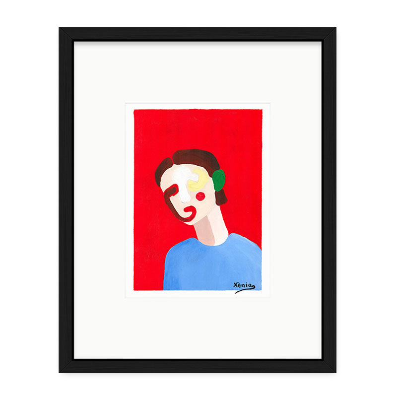 Xenia Ruiz Simple Face III Kunst100 Schwarz
