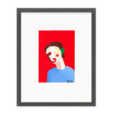 Xenia Ruiz Simple Face III Kunst100 Grau