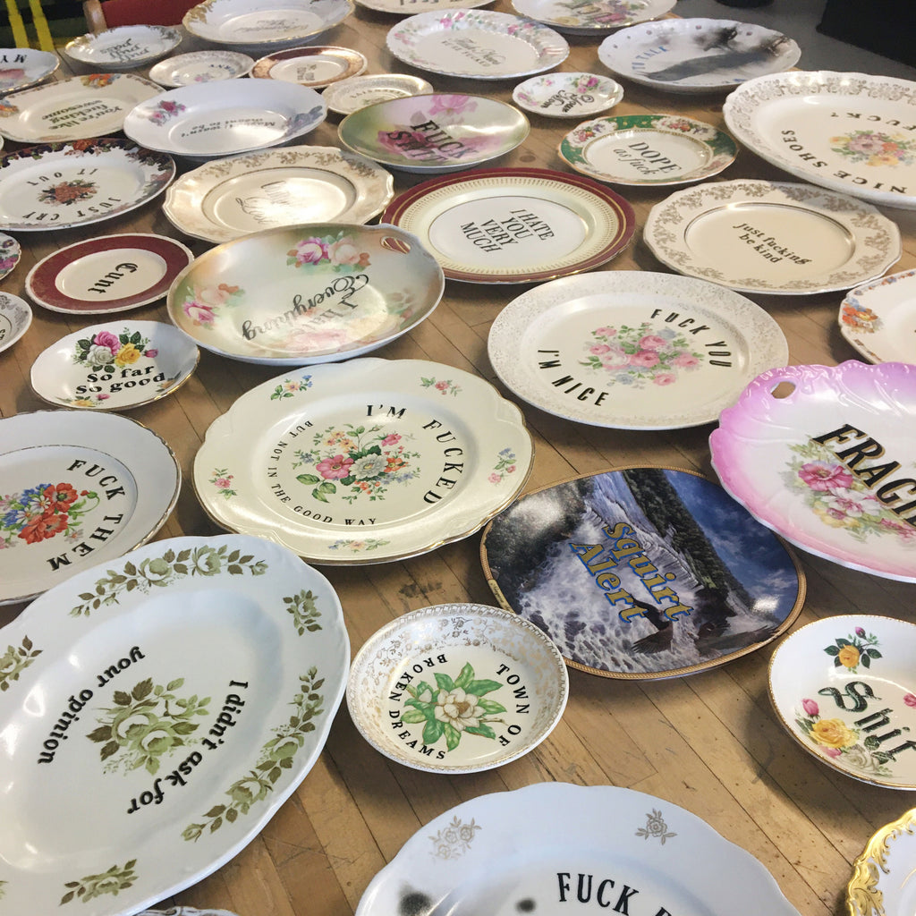 various ceramic plates by MC Marquis