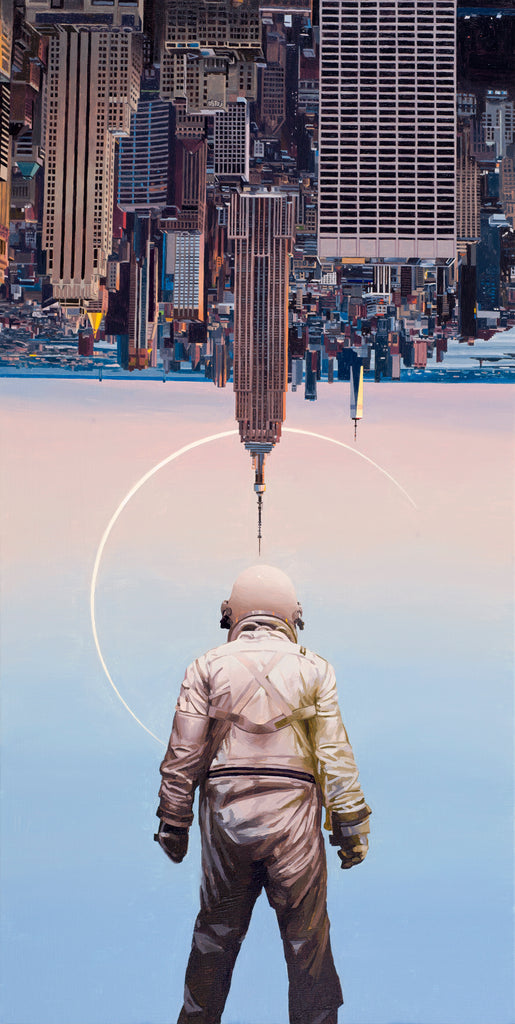 Scott Listfield The Wrong Way Up oil painting Quarantine solo show