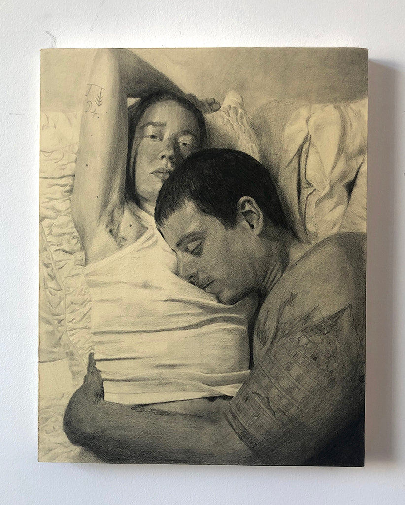 Chelsie Kirkey - NSFW art show - pencil drawing of two figures