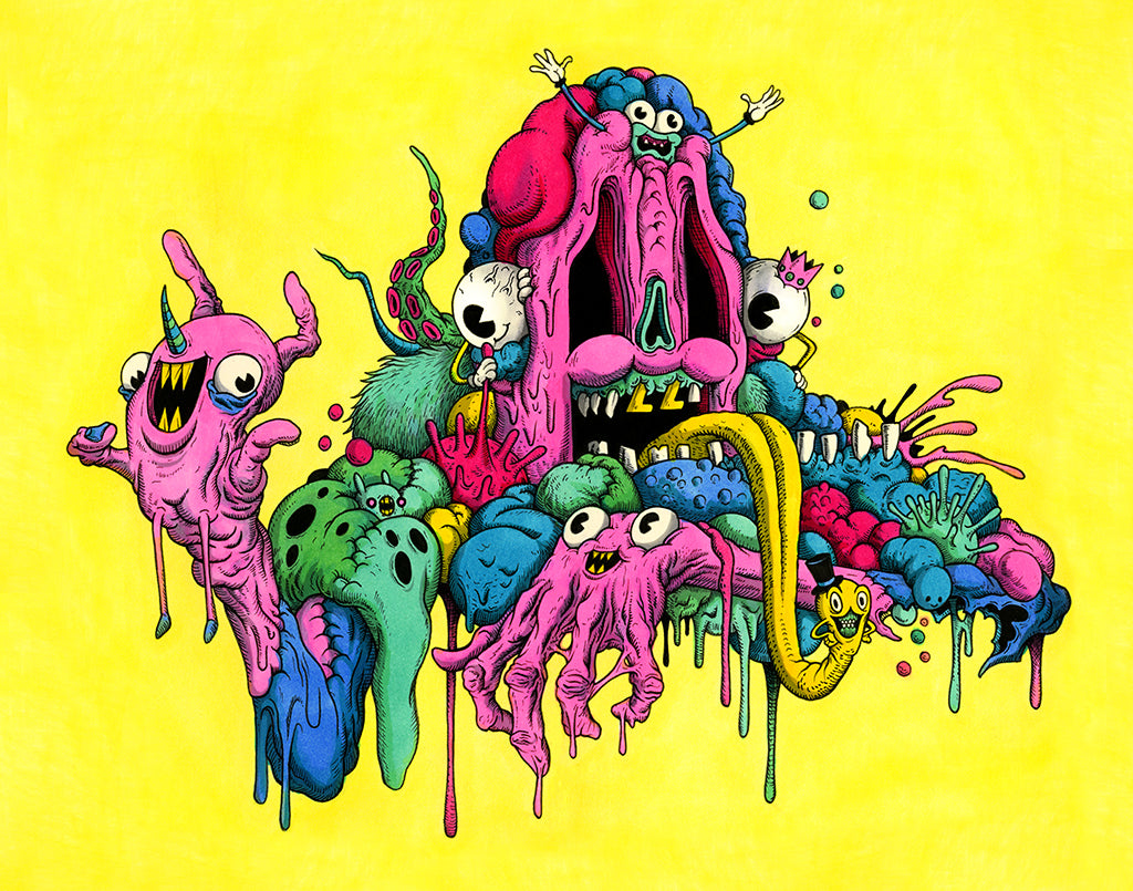 Alex Pardee Sweathog limited edition print Spoke Art NYCC
