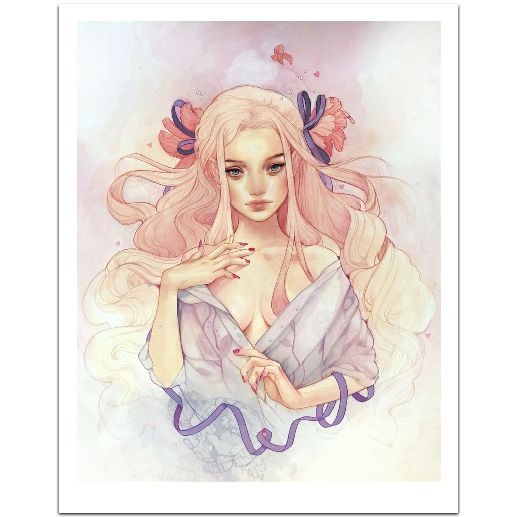 Kelsey Beckett Lost On You Valentine's Day art print