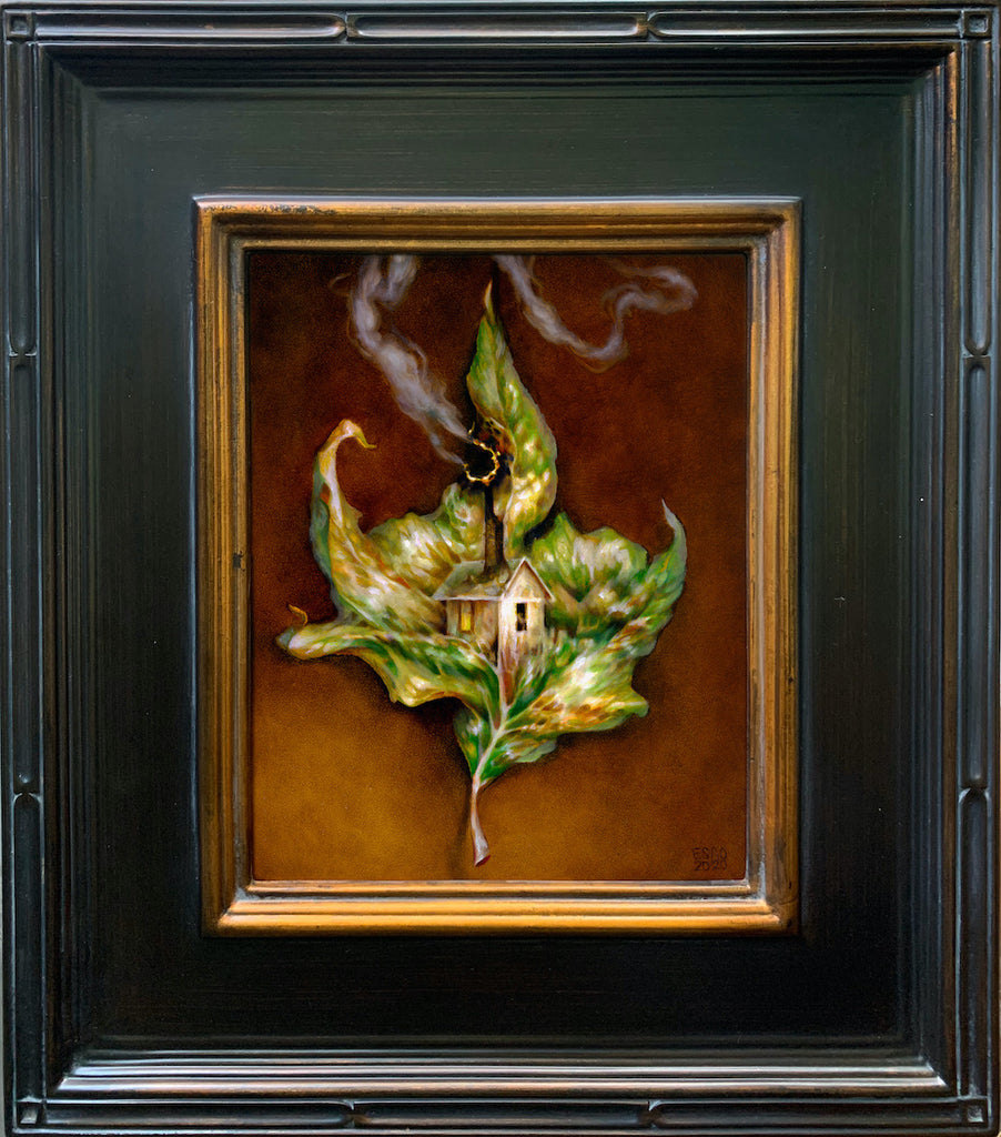 Esao Andrews Ecology oil painting leaf house