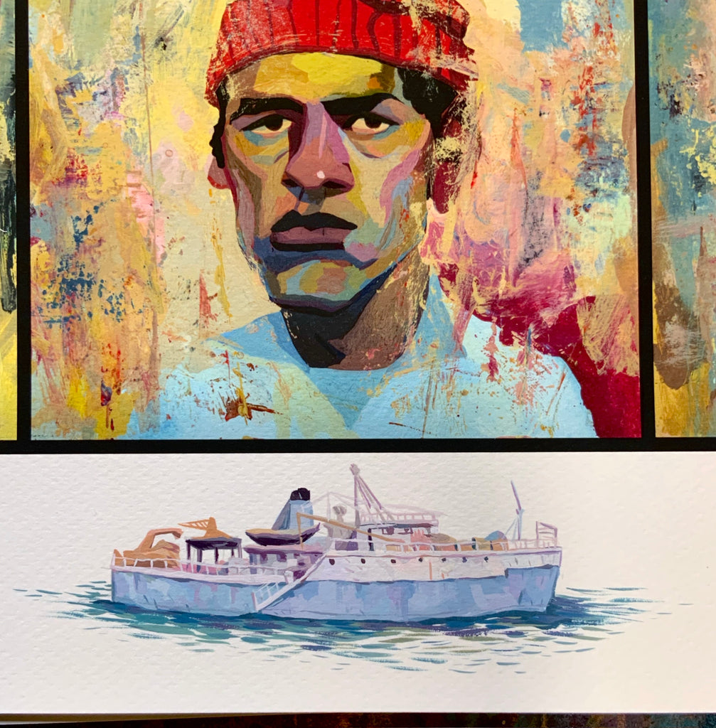 Rich Pellegrino The Life Aquatic with Steve Zissou timed edition object remarque Wes Anderson print