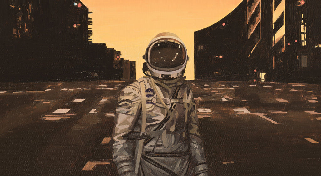 Astronaut painting by Scott Listfield