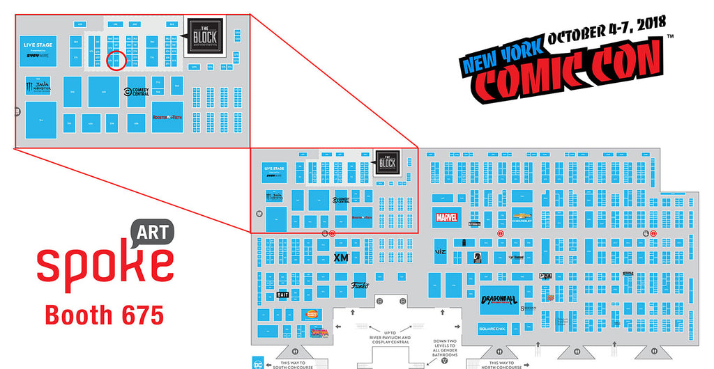 New York Comic Con Map