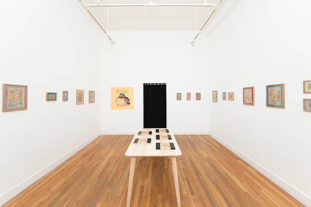 Felicia Chiao I Just Want To Go Home solo exhibition installation view in Spoke Art San Francisco Gallery
