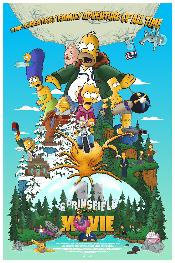 Germain Barthelemy The Simpsons Movie art print NYCC poster