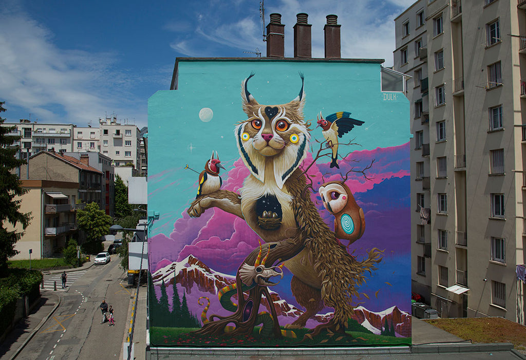 Dulk outdoor mural artwork
