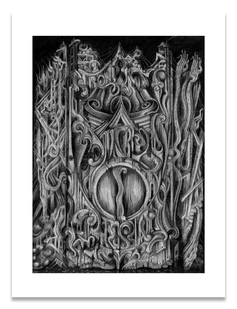 Abstract drawing by David Welker