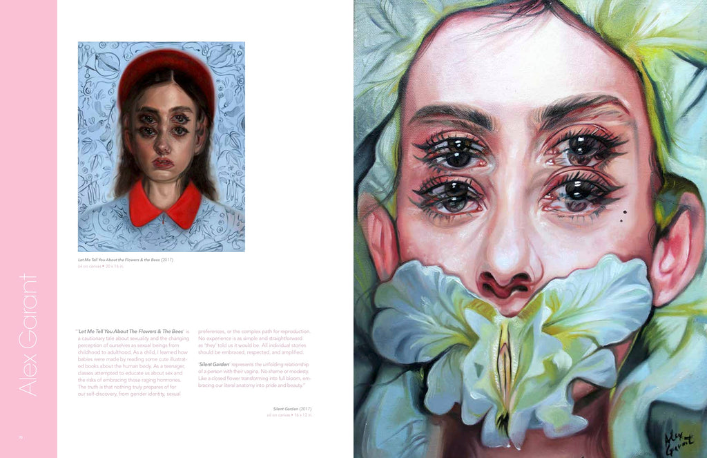 layout of NSFW book featuring Alex Garant
