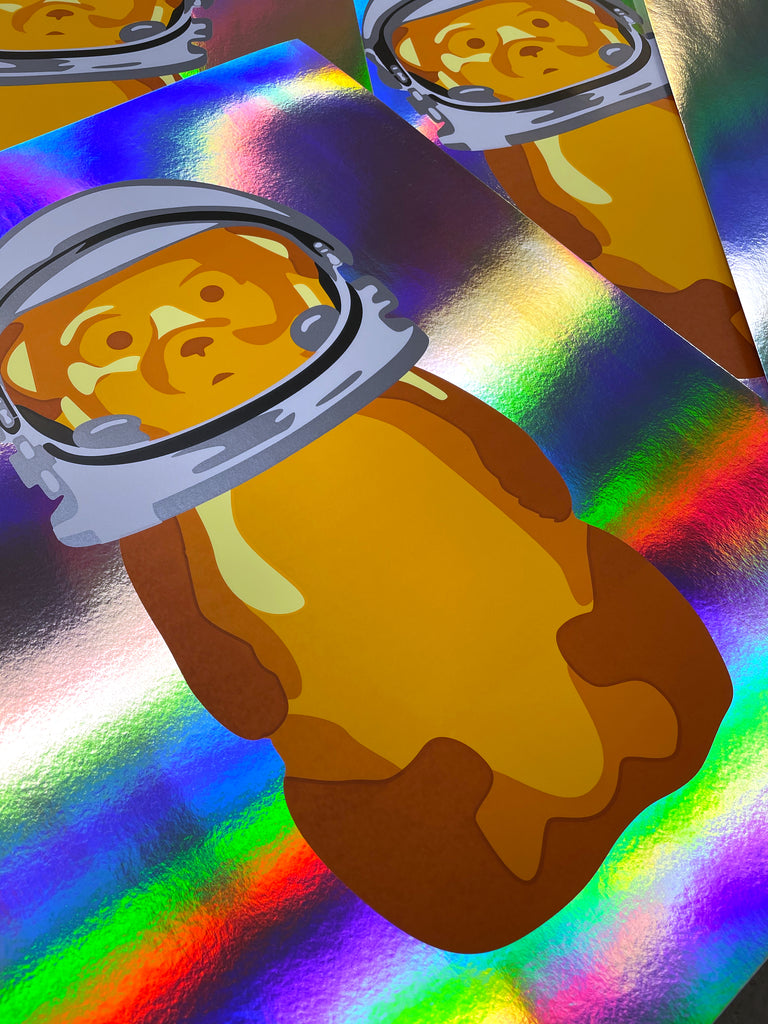 fnnch Astro Bear foil variant random limited edition print giveaway