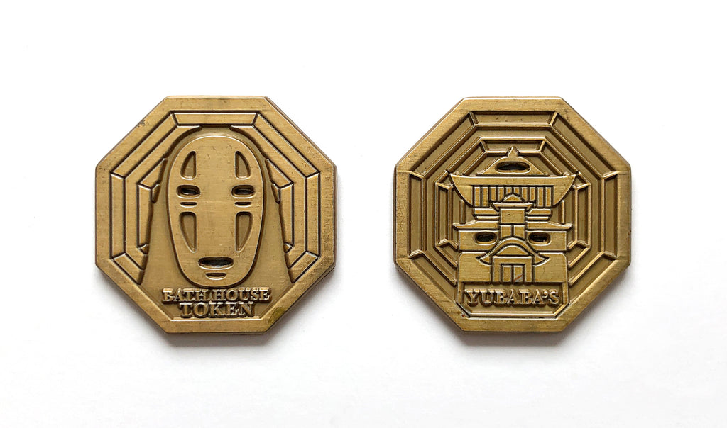 Bruce Yan Spirited Away antique gold token