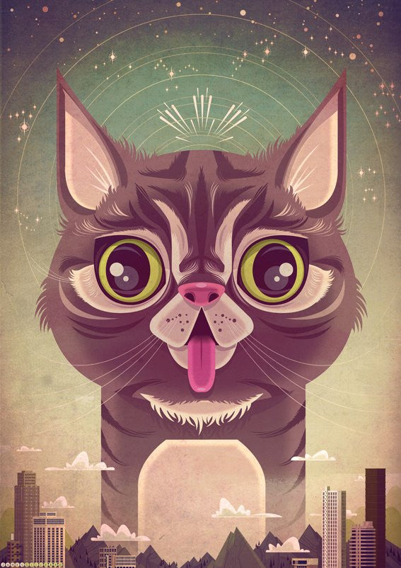 "James Gilleard - ""Space Cat"" - Spoke Art"