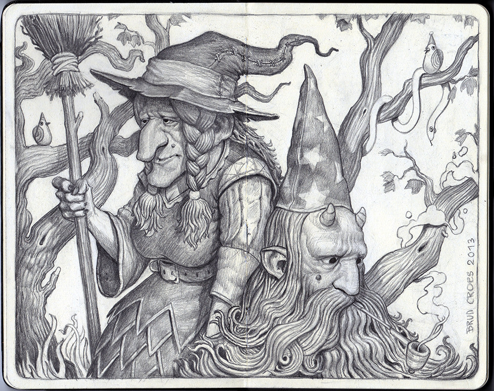 "Brun Croes - ""The Witch And The Wizard"" - Spoke Art"