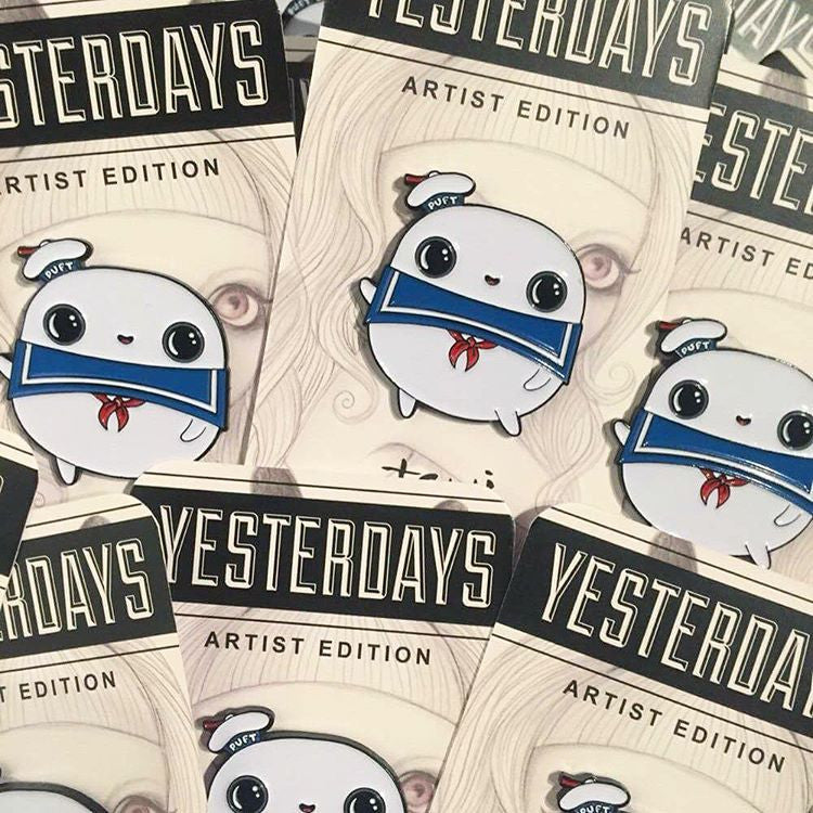 Stay Puft Enamel Pin by Tomi Monstre