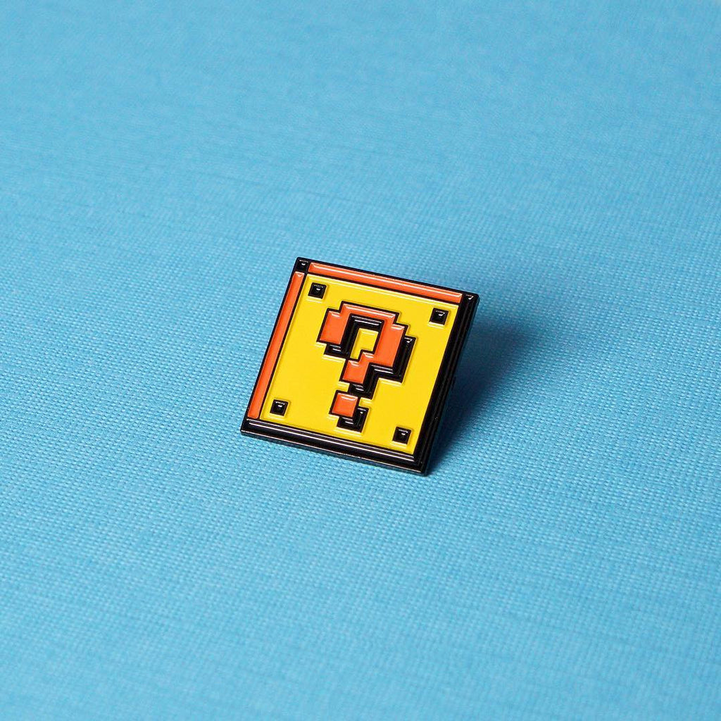 Question Block Enamel Pin - Spoke Art
